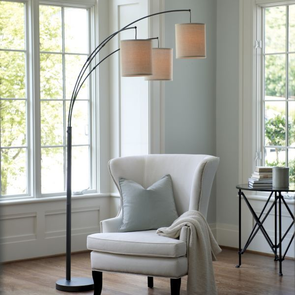 Arched Glass Floor Lamp