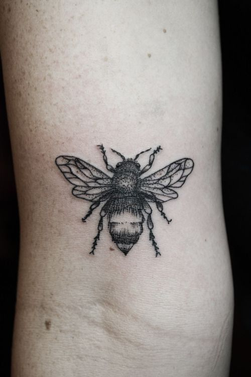 Bee Tattoo black