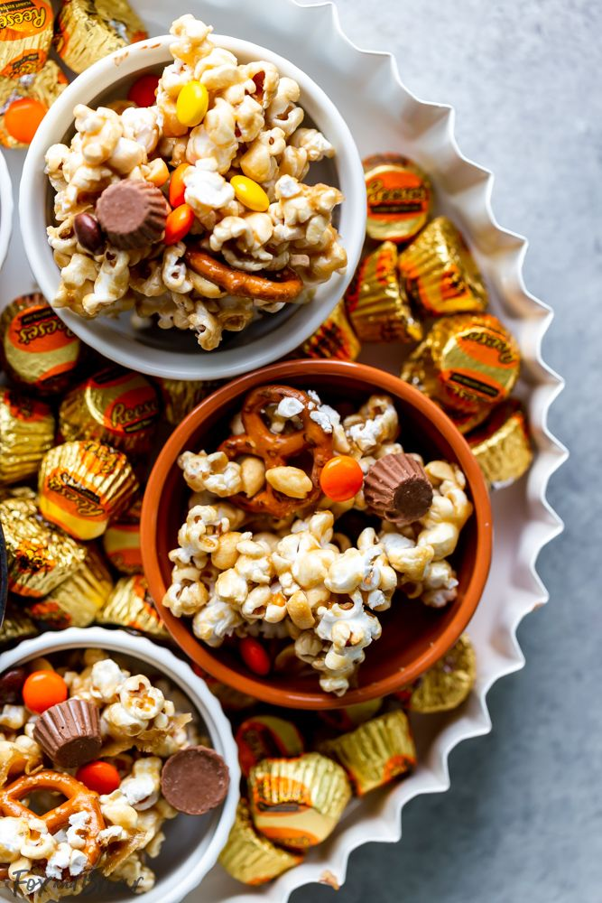 Sweet And Salty Popcorn Snack Mix Recipe Sweet Salty Popcorn Snacks Snacks