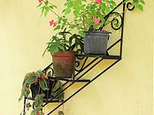 Suporte para plantas - Móveis para Jardim - Design de Interiores - Paisagismo - Decoração - Casa e Jardim