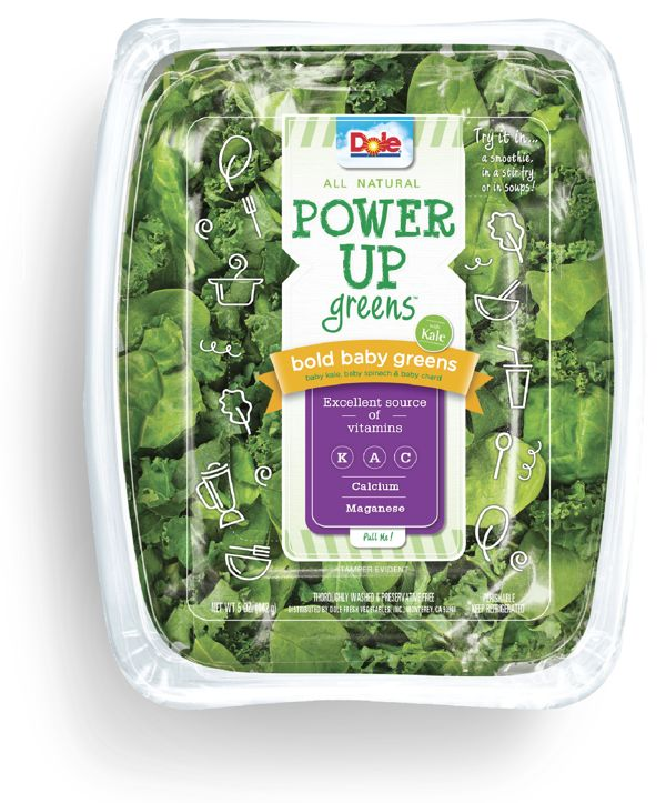 Dole power up greens packaging