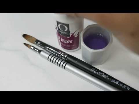 Como restaurar y mantener en buen estado nuestros pinceles para uñas acrílicas y 3D pasó a pasó - YouTube