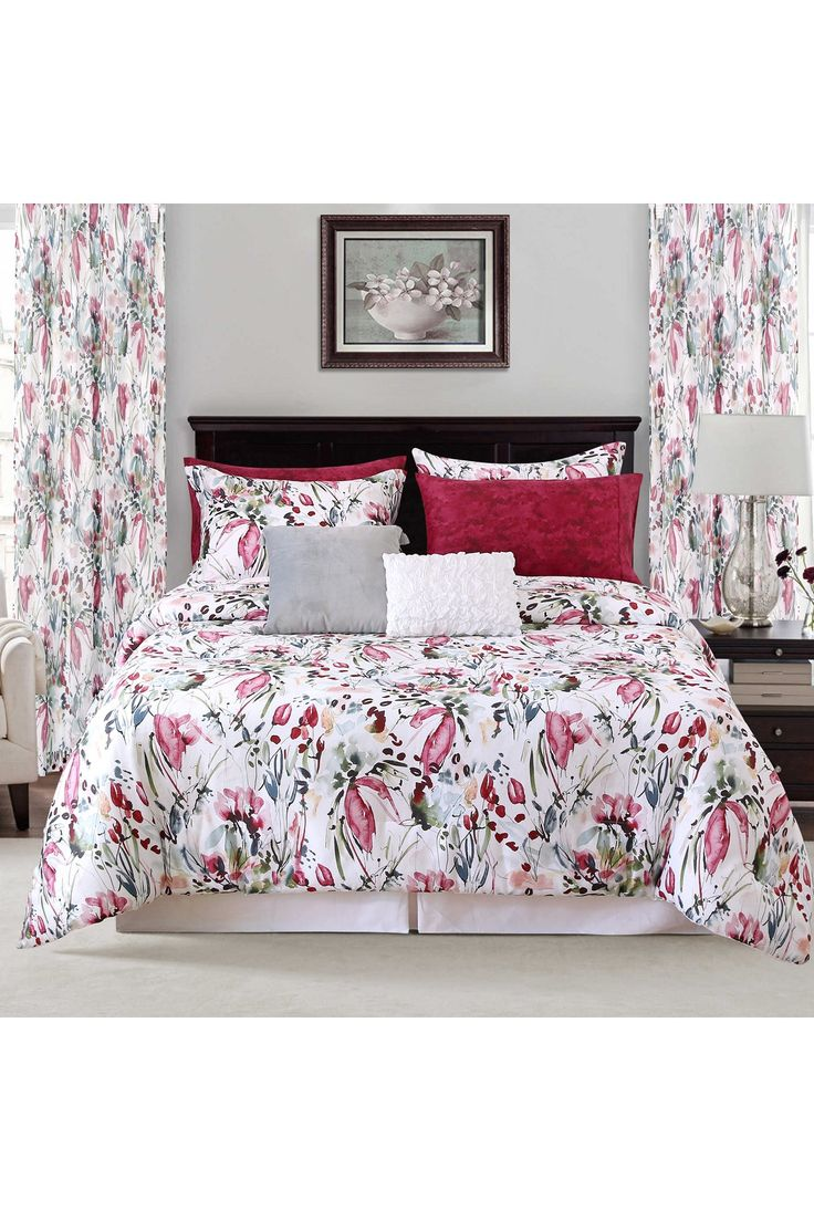 SARA B | Full/Queen Rhapsody 4-Piece Comforter Set