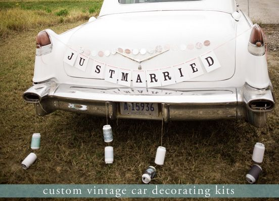 48 best maid of honor stuff images on pinterest wedding cars wedding stuff and deko - Just married decorations for car ...