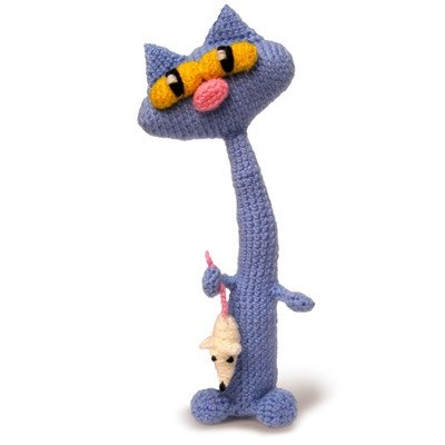 +Crocheted Kitty/mouse