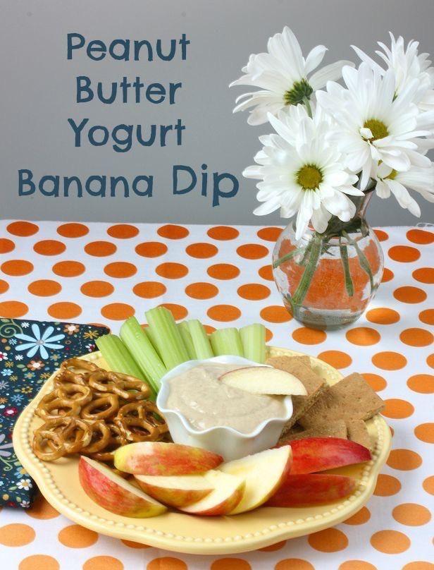 Peanut Butter Yogurt Banana Dip via MealMakeoverMoms.com/kitchen #snack #yogurt #peanutbutter  Love the @MealMakeoverMom great recipes!