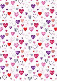 Resultado de imagen para papel con diseños de corazones para imprimir