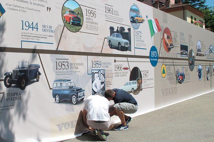 Parete-sfondo per i 40anni di Volvo Car Italia.