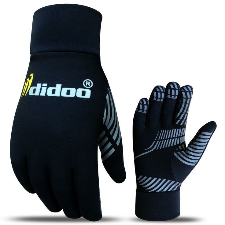 Soft and Warm running gloves made of super Roubaix Fabric with two way stretch and brushed back for extra warmth Excellent thermal properties Fast wicking and drying Silicon printing on front palm for extra grip Ideal for outdoor sports especially running and football