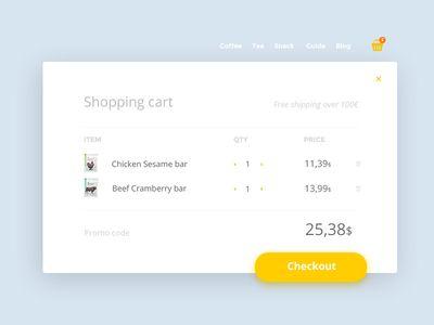058 DailyUI — Shopping Cart