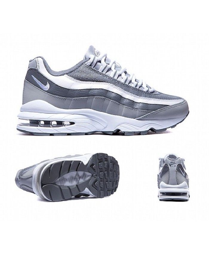 new product 74e79 3ce25 Nike Air Max 95 Junior Silver Grey Sale