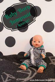 Baby Bornin vinovetskajumpsuit (sisältää kaavat!) || Free printable Baby Born jumpsuit pattern