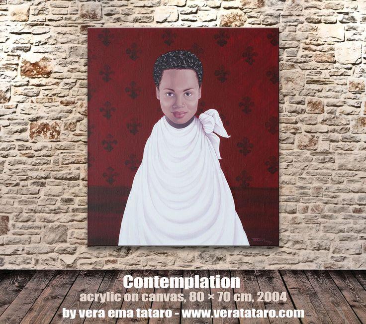 Contemplation - acrylic painting by Vera Ema Tataro
