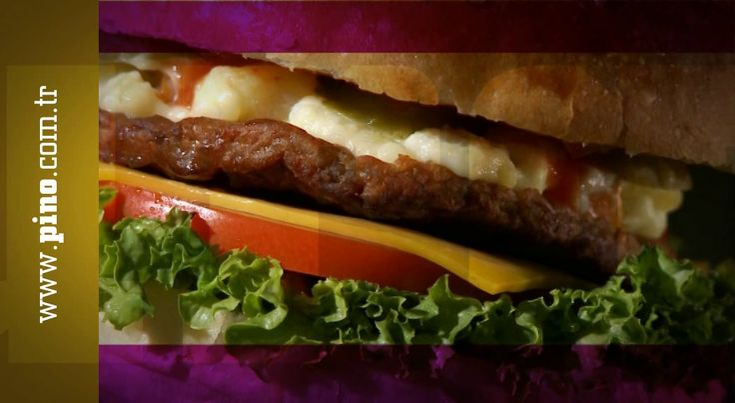 """Pino için geliştirdiğimiz """" cheeseburger"""" filmi."""