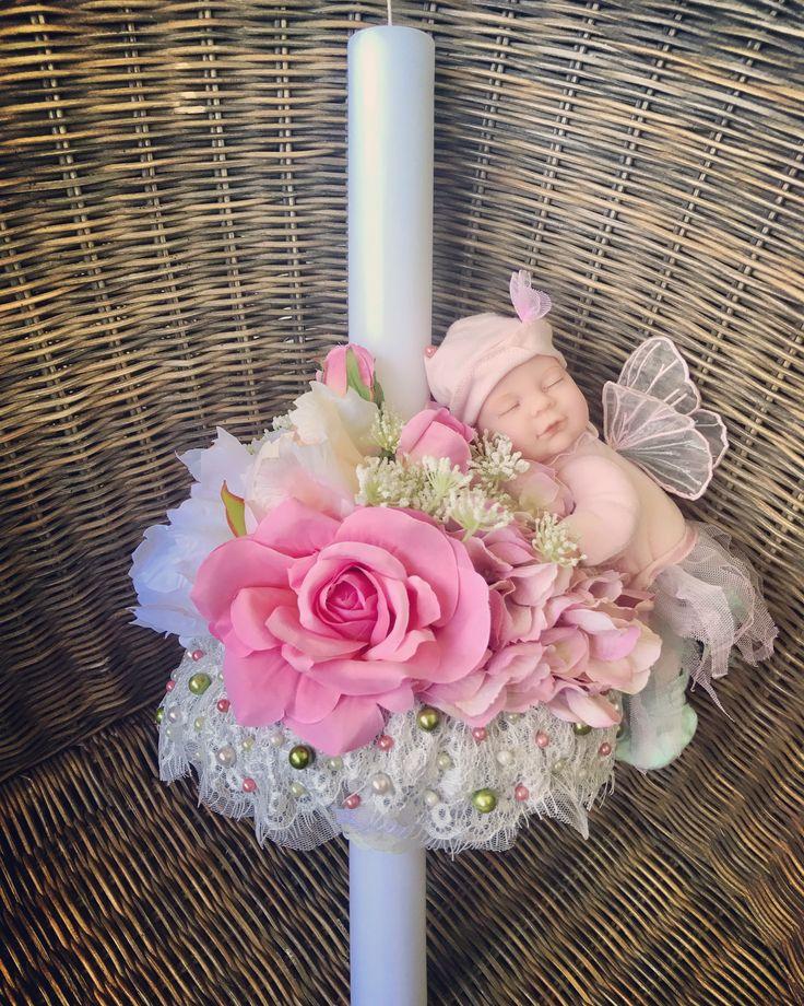 Lumanare de botez cu zana bebelus Anne Geddes #anne #geddes #zana #papusa #lumanare #botez #fetita #bebelus #babyfairy by Atelier Floristic Aleksandra concept Alexandra Crisan