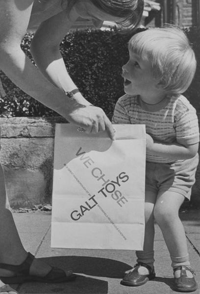 Galt Toys paper bag by shelfappeal, via Flickr
