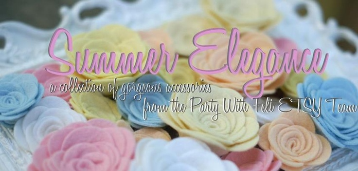 I f you Love Handmade and OOAK  Hair Accessories – Then stop by and Like the Party with Felt Etsy Team page – Big Launch tonight – This group of talented designers will Launch – Summer Elegance -: Felt Accessories, Hair Pretty, Big Launch, Felt Etsy, Hair Bows, Etsy Team, Hair Accessories, Felt Hair, Bows Diy