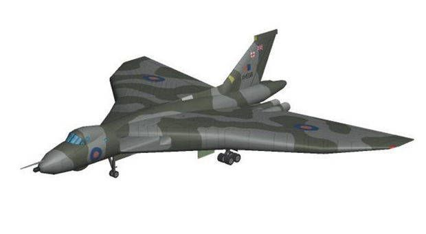 Avro Vulcan B.2 Strategic Bomber Free Aircraft Paper Model Download…