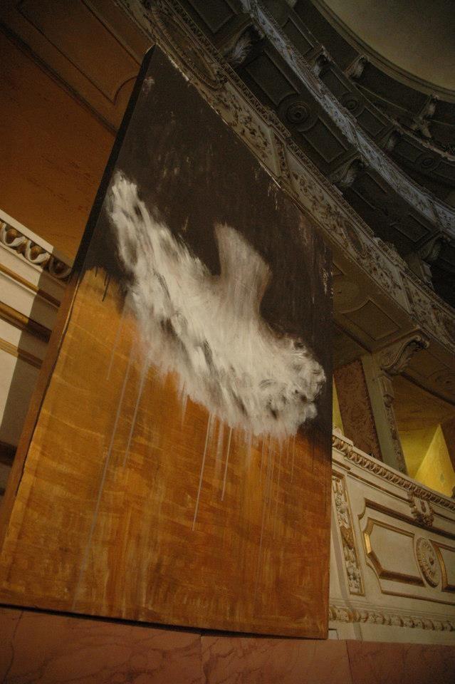 Oro e tutu. Teatro Rossi Aperto a Pisa. Olio su tela di Rita Pedullà. www.ritapedulla.it #tutu #dance #painting #oiloncanvas #theatre #ballerina #ritapedullà