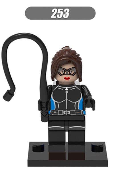 500 шт. хк 253 строительные блоки супер герой женщина кошка Minifigures DC супергерой модели детей кирпич мини-фигурки игрушки