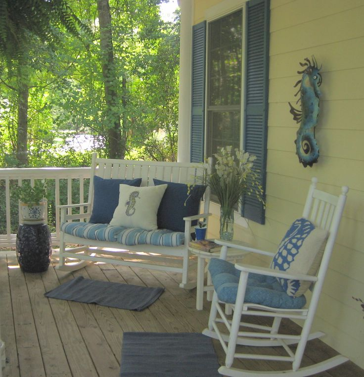 36 best yellow houses images on pinterest for Small porch furniture