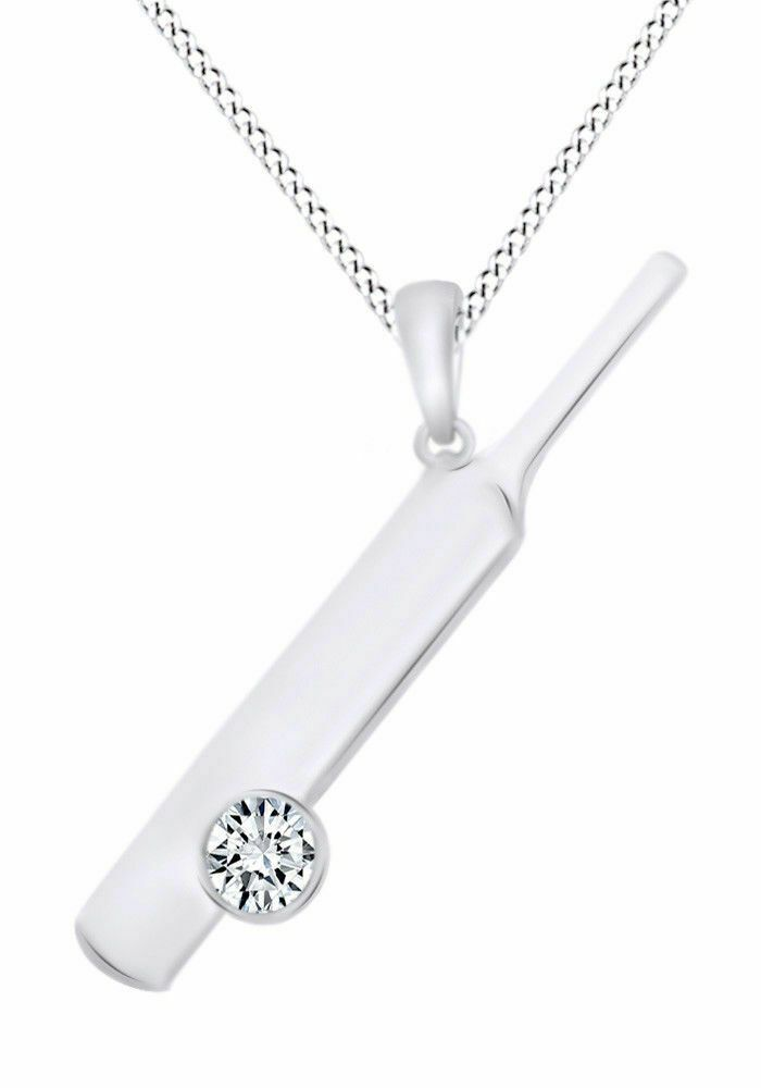 14K Solid White Gold Bezel Set Round Flawless Pendant Necklace 1TCW