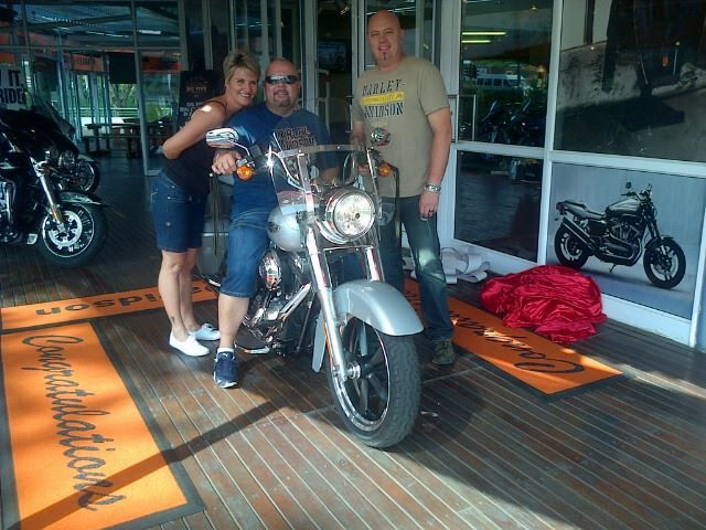 Congratulations Nick and Nita Hallowes! #route62 is waiting for you and your new Harley #B5HD #harleydavidson #bigfiveharley #southafrica