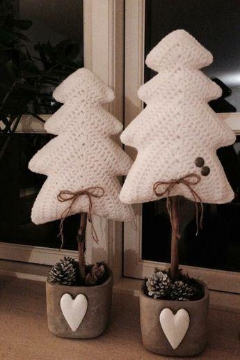 Pinos tejidos navidad