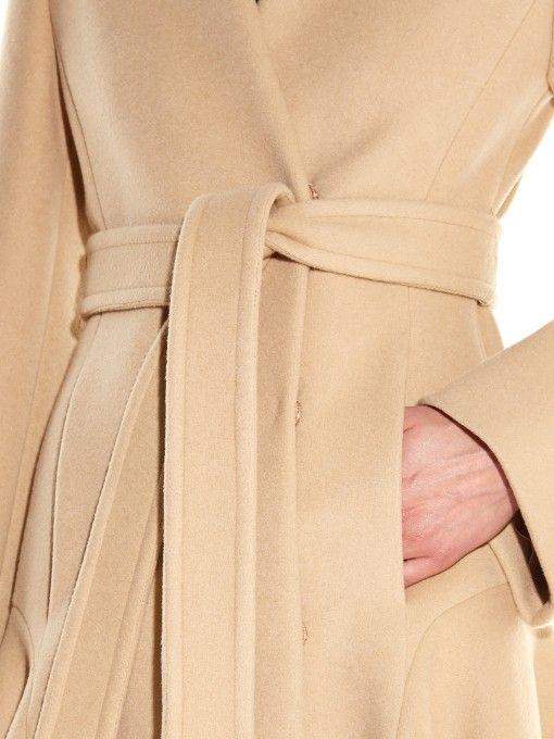 Stella McCartney Claudine asymmetric-hem wool-blend coat