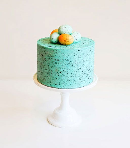 8 spectacularly gorgeous Easter cakes you can actually do yourself. (This Speckled Egg cake from The Cake Blog)