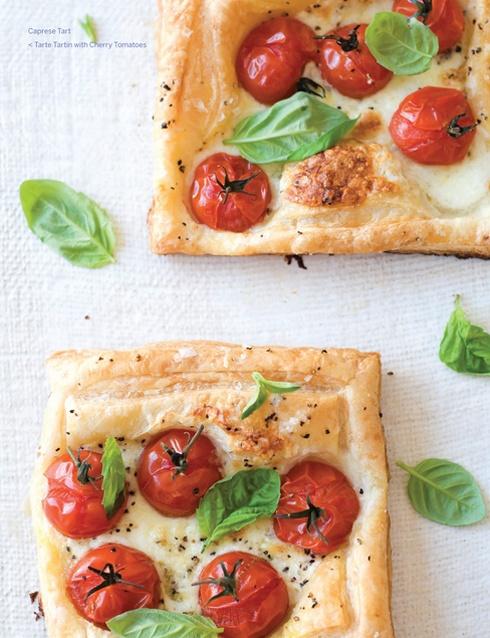 tomatoes: Caprese Tarts, Olive Oil, Summer Appetizers, Caprese Salad, Tarts Recipe, Puff Pastries, Tomatoes Basil, Capr Tarts, Sweets Paul