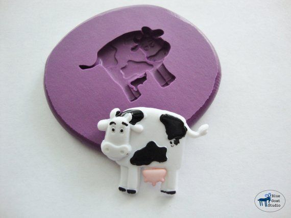Farm silicone mould soapmaking mold C121 resin mold mold polymer clay mold fimo mold - /'Farm Animals/' by FPC Sugarcraft