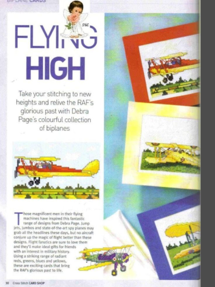 Flying High 1/2 Cross Stitch Card Shop Issue 41 March/April 2005 Saved