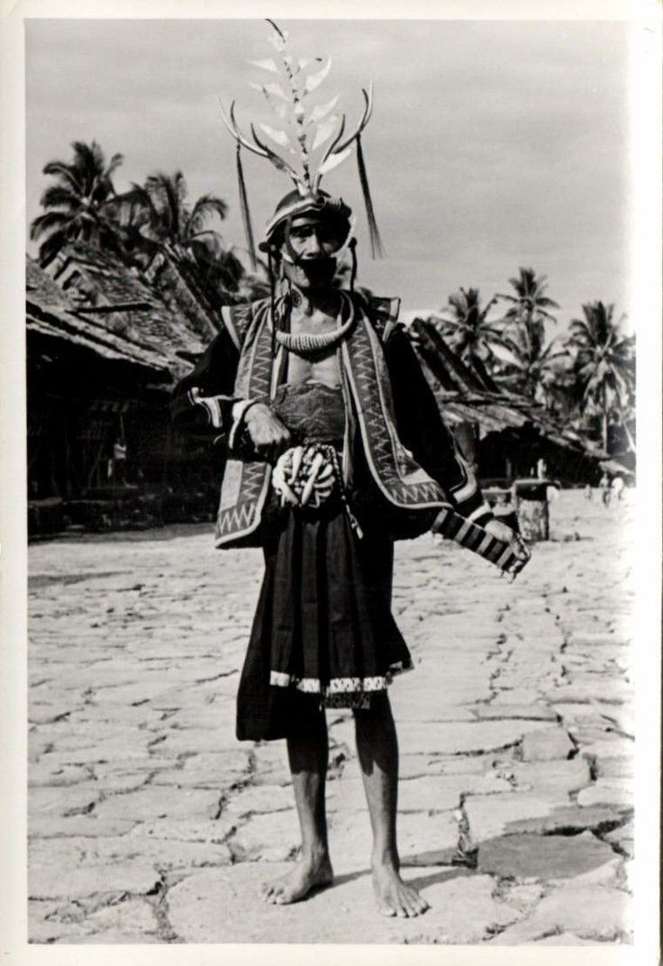 Indonesia Nias Real Photo Native Chief 1930s RP 11 | eBay