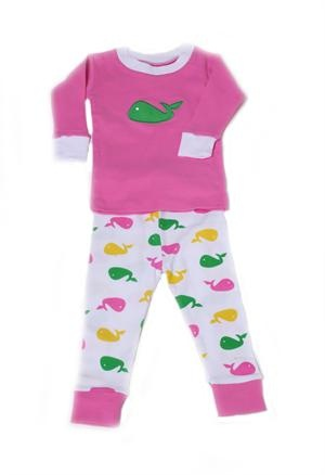 Organic Cotton Jammies- Whales