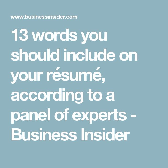 17 Best images about RESUME(s) on Pinterest - keywords to use on resume