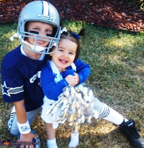 Dallas Cowboys Player and Cheerleader - 2014 Halloween Costume Contest