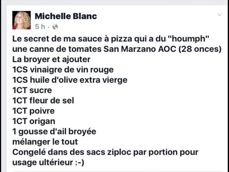 Sauce à pizza de Michelle Blanc!