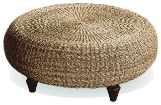 Urban Home Natural Banana Core Ottoman - tropical - ottomans and cubes - Overstock