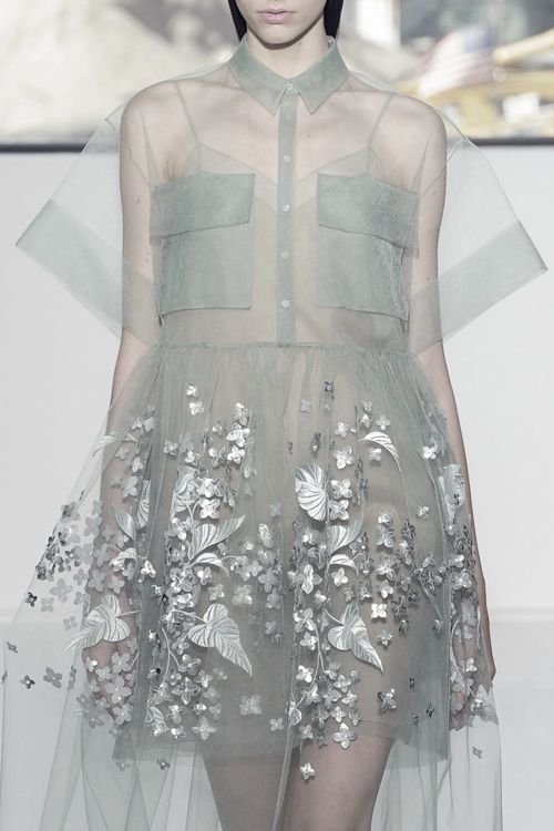 Whether it be sexy or sweet, you're going to want something sheer for spring 2015. // Delpozo S/S 2015