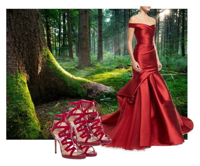 """Once upon a time.."" by vanessalanzafame on Polyvore featuring moda, Jimmy Choo e Monique Lhuillier"