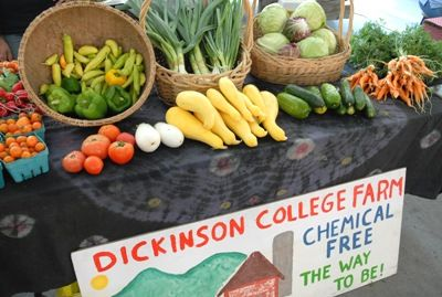 Our produce is (very) local... from our very own Dickinson College farm!