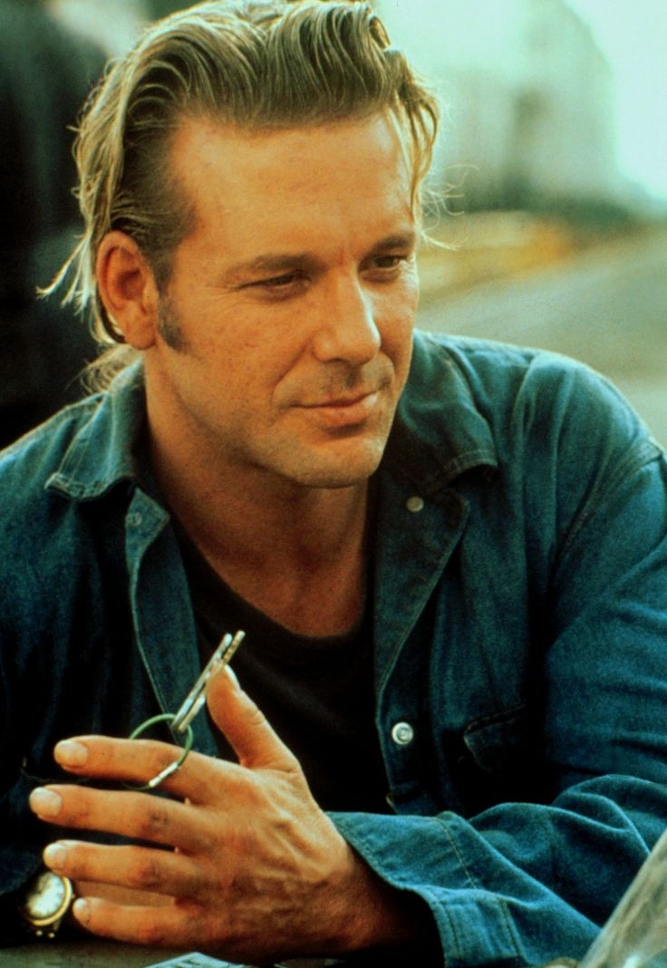 Mickey Rourke -- before all the plastic surgery.