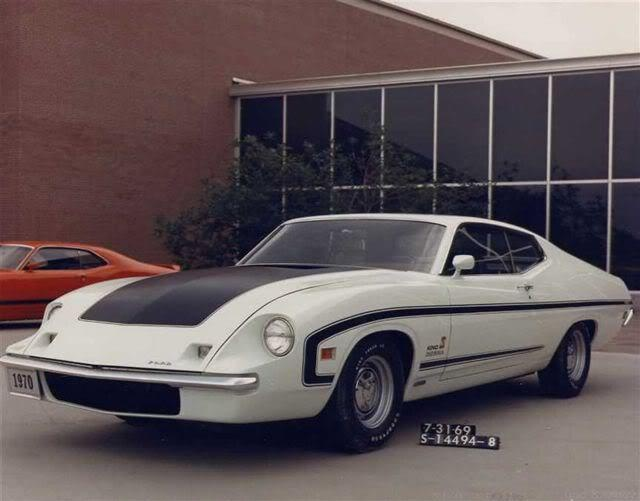 1970 Torino King Cobra. You can see the Clay Model Makeup of the 1970 Cyclone Spoiler II.