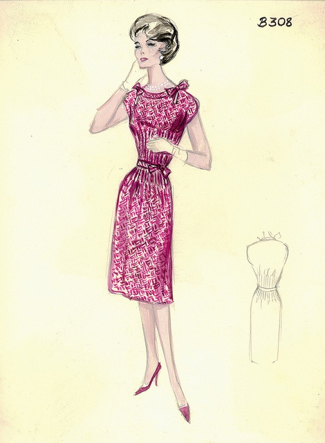 Mark Mooring Day Dress by FIT Library Department of Special Collections, via Flickr