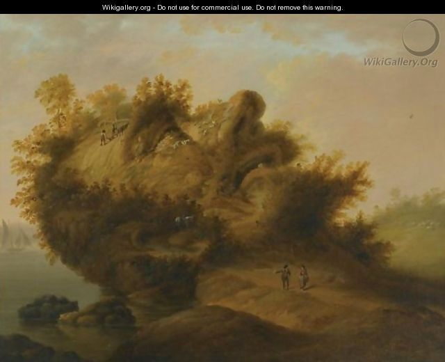 An Anthropomorphic Landscape With The Profile Of A Man