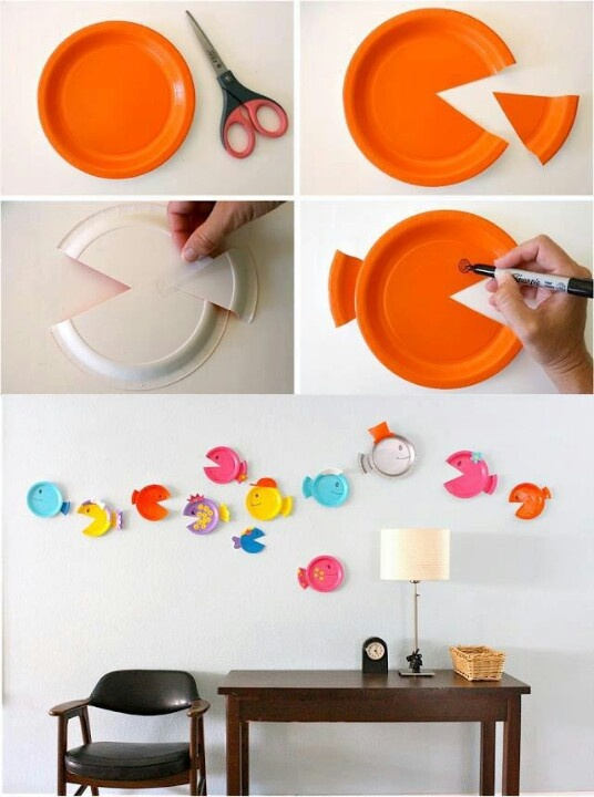 Fish decor :) - cheap way to make cute little fish!