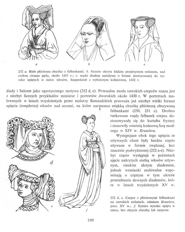 Ubiory meskie i kobiece do 1430r we Francji i Flandrii