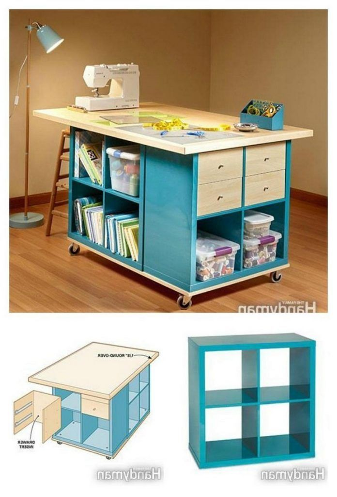 35 Ideas For Storing And Organizing Craft Rooms Home Accessories Blog 35 Amazing Craft Room St In 2020 Craft Room Tables Organization Furniture Craft Room Storage