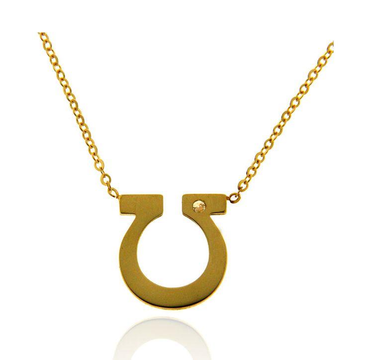 OMEGA Ref: 38530 Gargantilla realizada en oro amarillo de 18 kts. El simbolo omega lleva engastado un diamante en talla brillante.